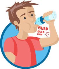 Ricawater Illustration: Chugging