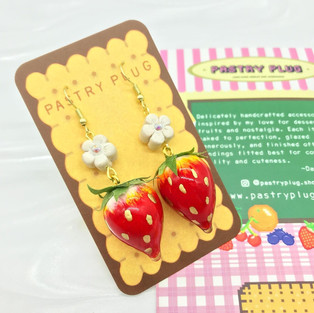 Pastry Plug Earring backs and care info card