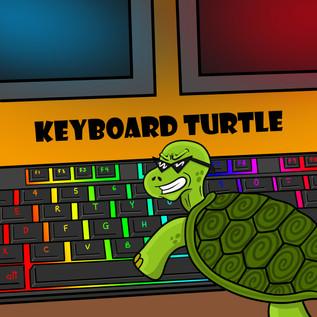 Keyboard Turtle Illustration