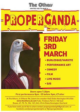 SEX MUSIC at ProperGanda cabaret