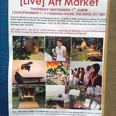 Madame EX will be appearing at Live Art market, Walthamstow