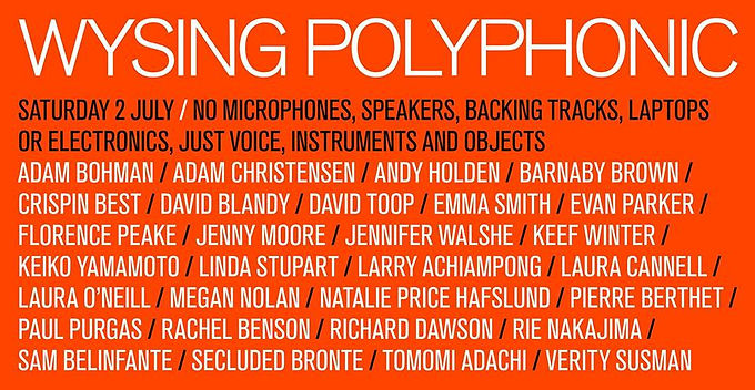 Voicings with Florence Peake at Wysing Polyphonic Festival