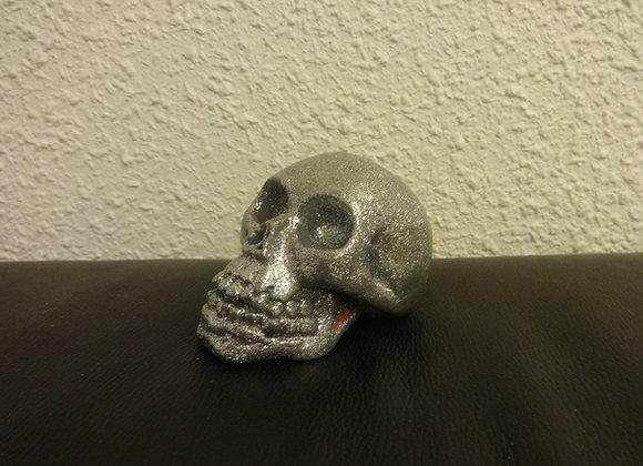 Crâne céramique Gris paillette