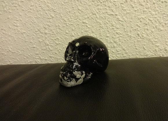 Crâne céramique noir dentelle