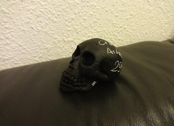 Crâne céramique ardoise