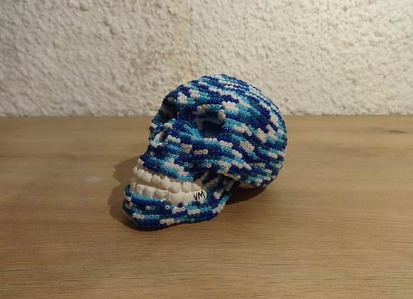 Crâne perlé mer bleu