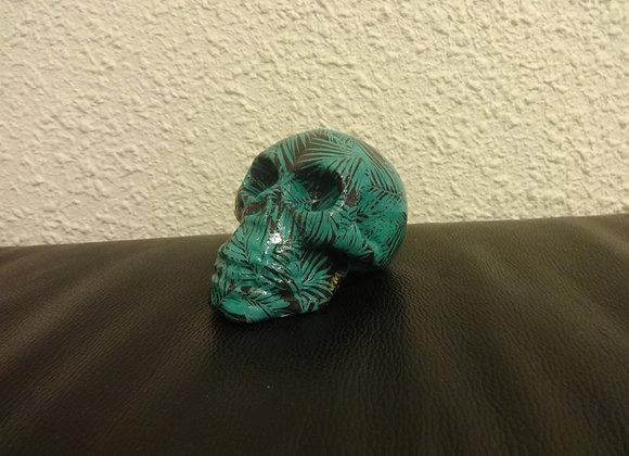 Crâne céramique palmier