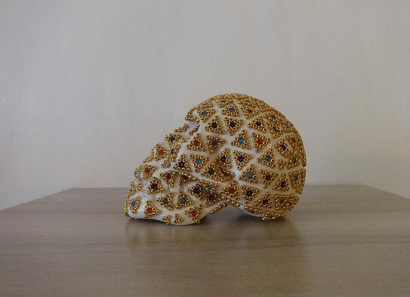 Crâne céramique perlé triangle