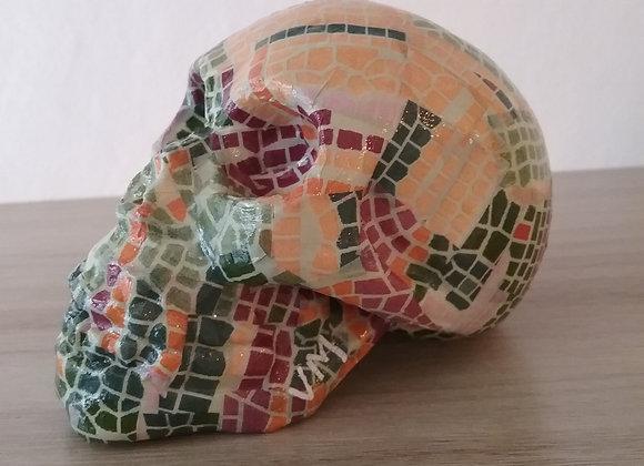 Crâne céramique mosaique