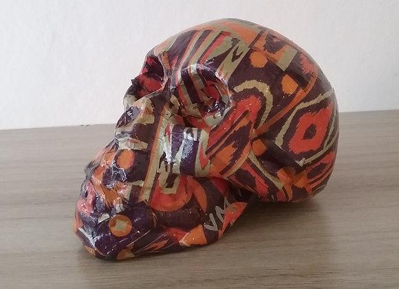 Crâne céramique cado violet