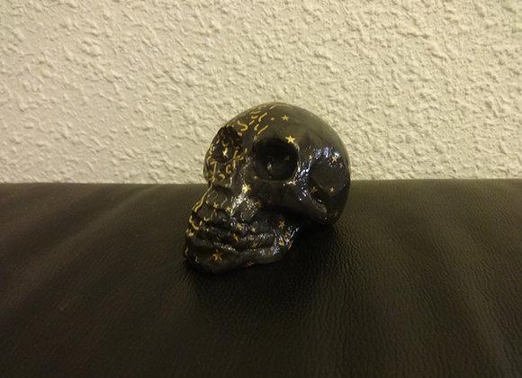 Crâne céramique double face nuit