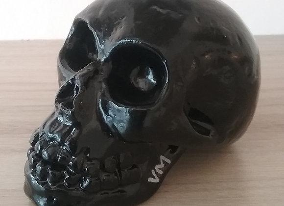 Crâne céramique uni noir