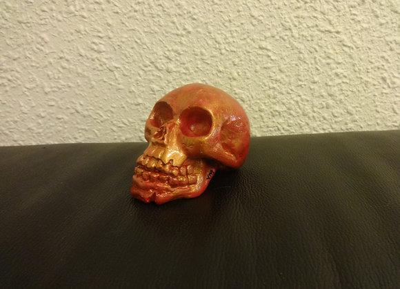 Crâne céramique rose-or