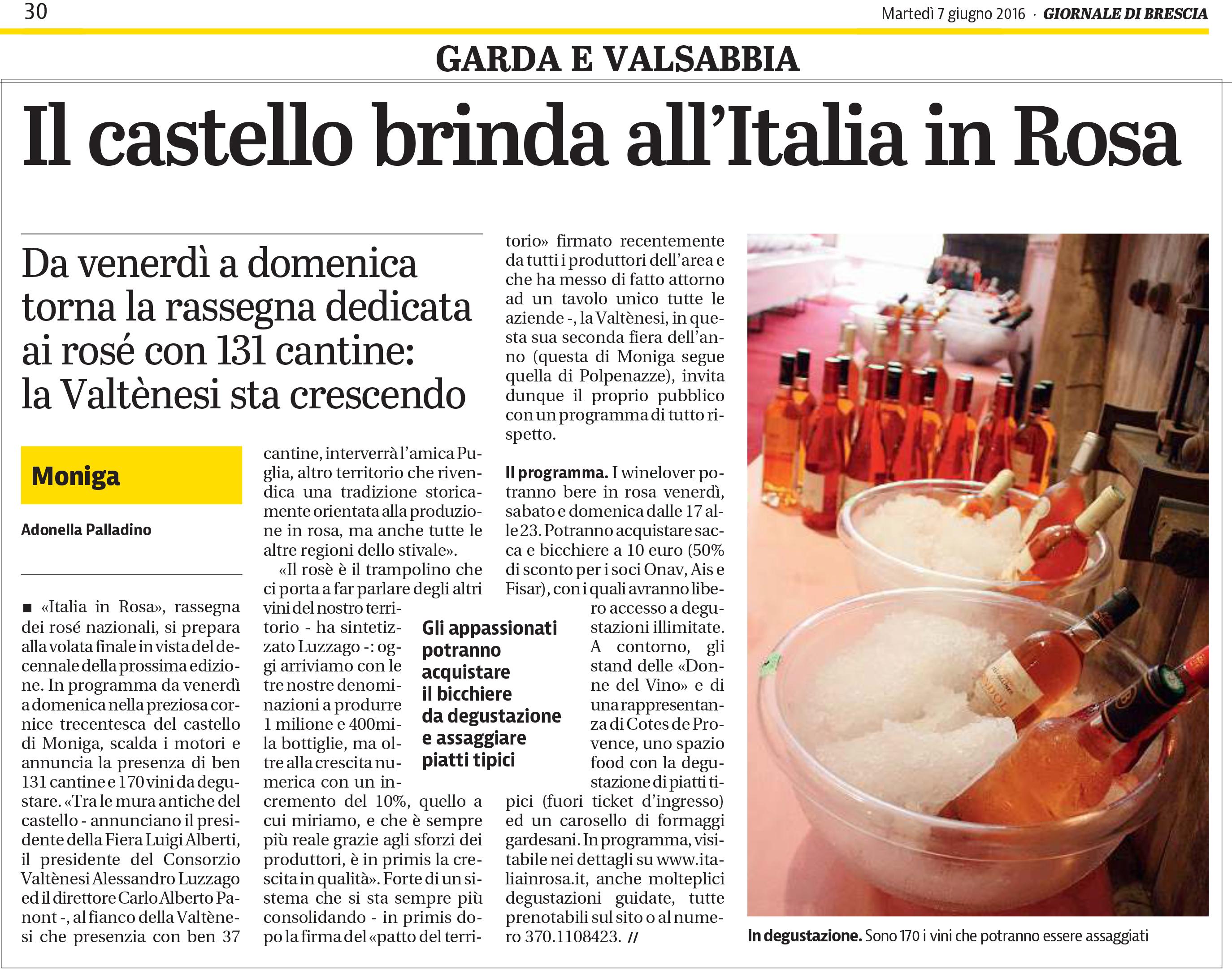 Giornale di Brescia 7 giugno 2016