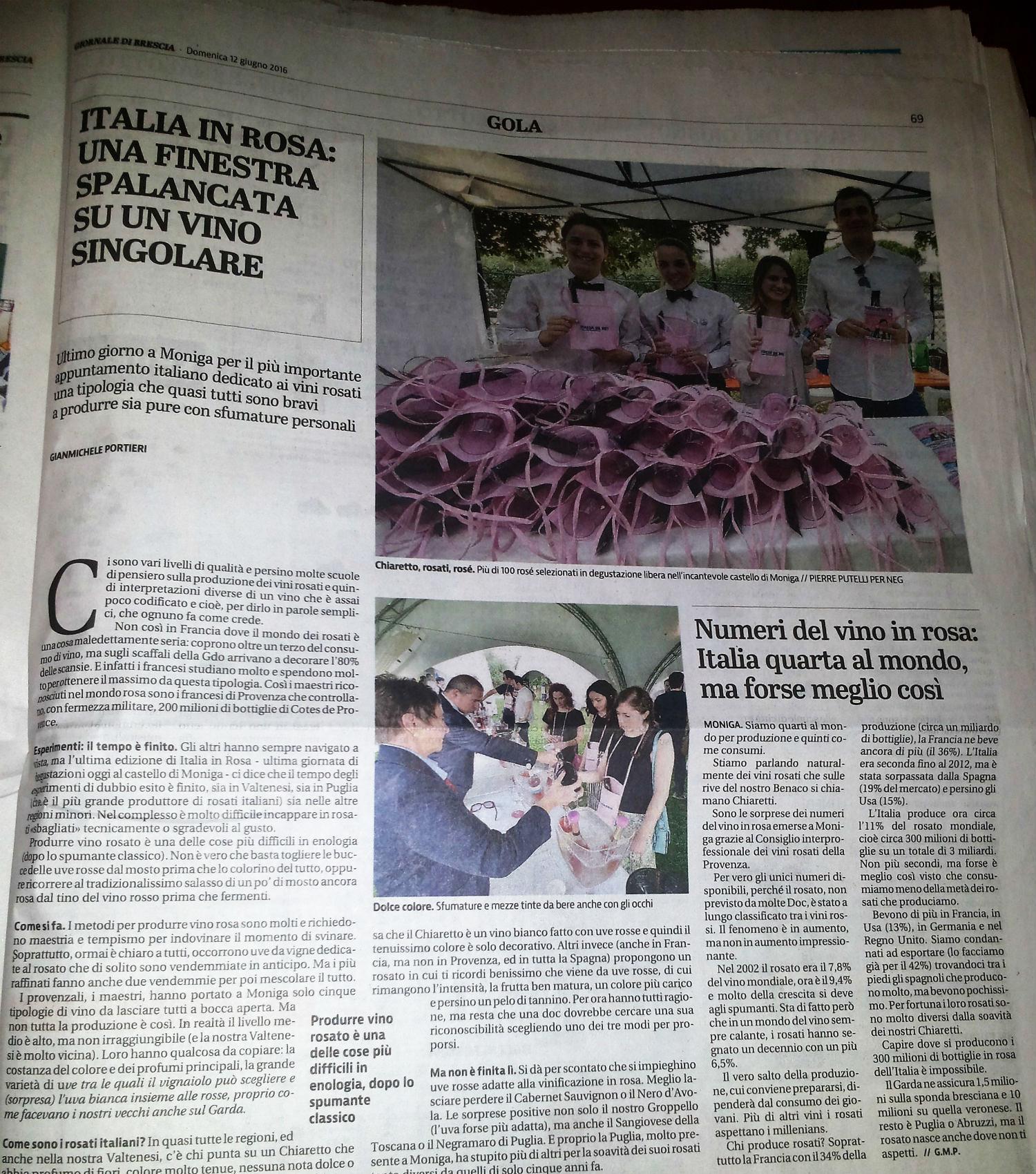 Giornale di Brescia 12 giugno 2016