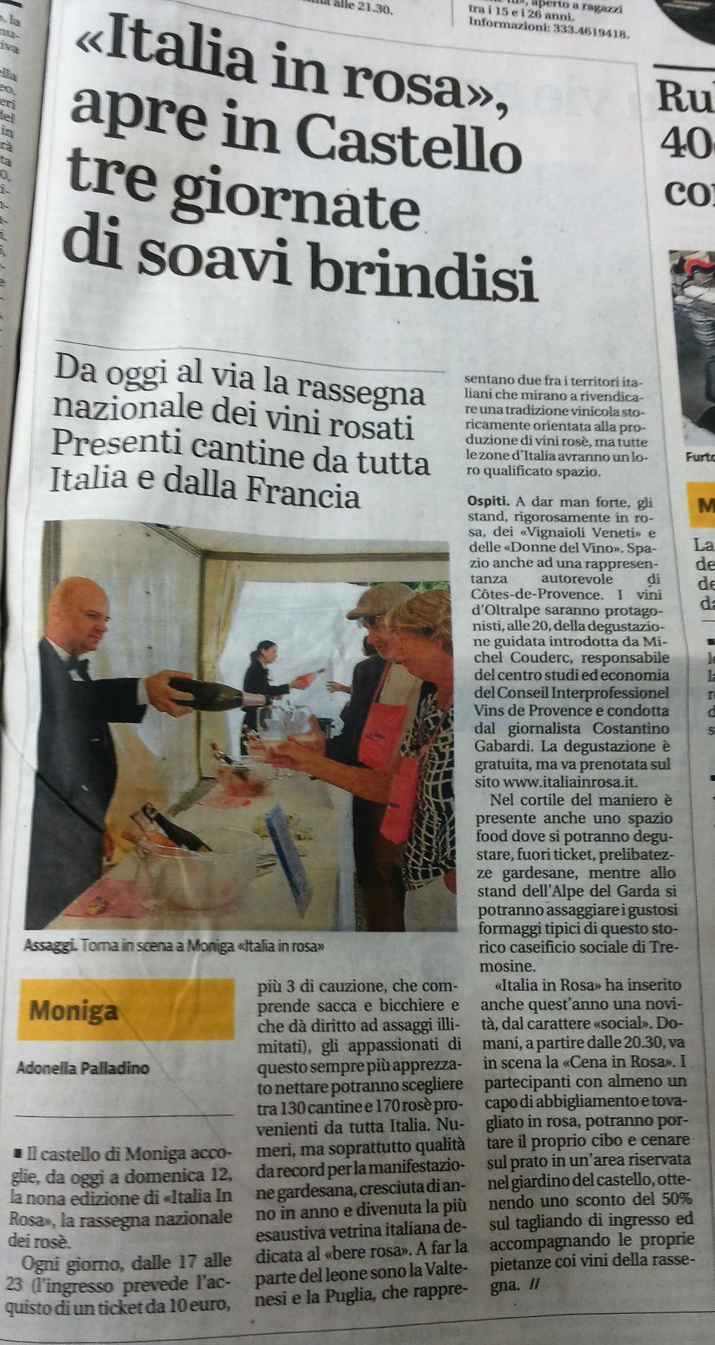 Giornale di Brescia 10 giugno 2016