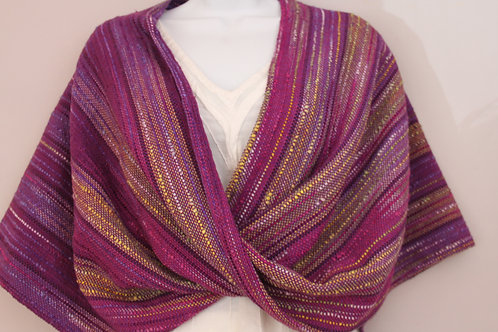 Violet Twist Shawl