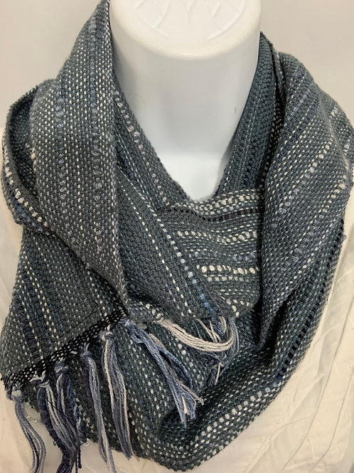 "Long Infinity Scarf in ""Stormy Skies"""