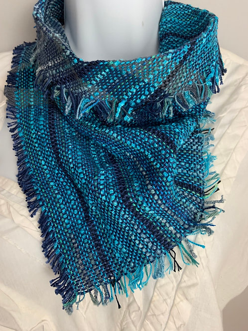 """Ocean Blues"" Triangle Scarf"