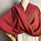 Thumbnail: Dark Red Azalea Twist Shawl