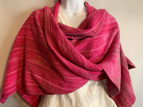 Dark Pink Apple Blossom V-Back Shawl