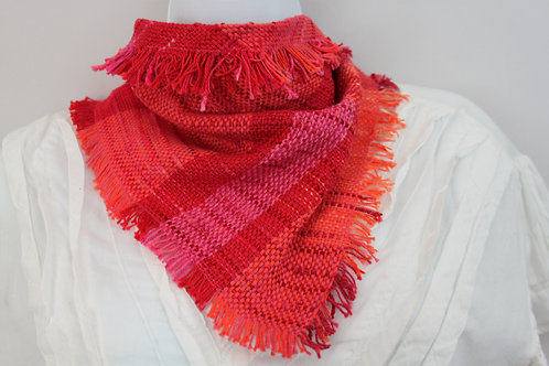 Red Berries Triangle Scarf