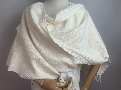 Queen Anne's Lace V-Back Shawl