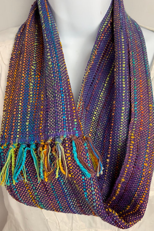 "Purple ""Tropical Fish"" Short Infinity Scarf"