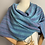 "Thumbnail: ""Galaxy"" V-Back Shawl in Blue"