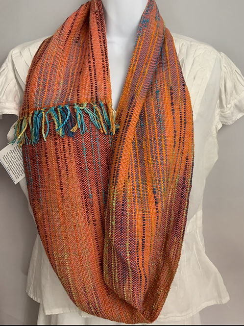 "Orange ""Tropical Fish"" Long Infinity Scarf"