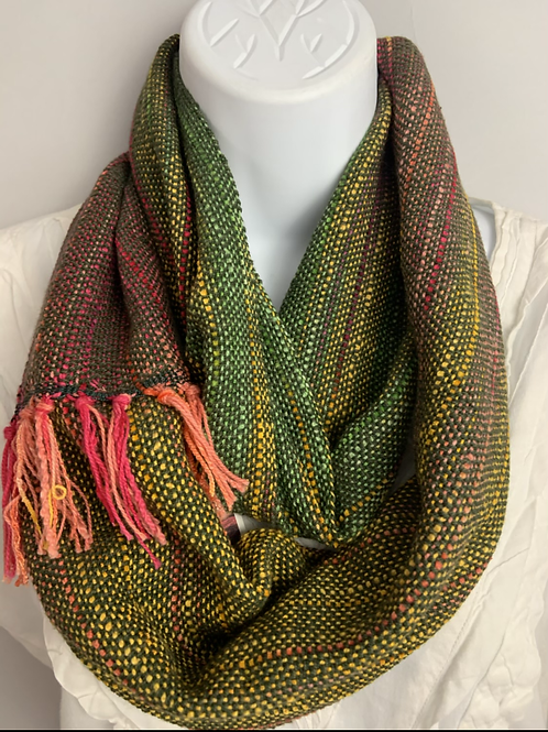 Green Holiday Lights Infinity Scarf