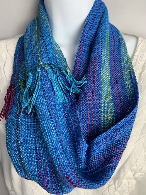 """Bright Blue """"Blueberry"""" Short Infinity Scarf"""