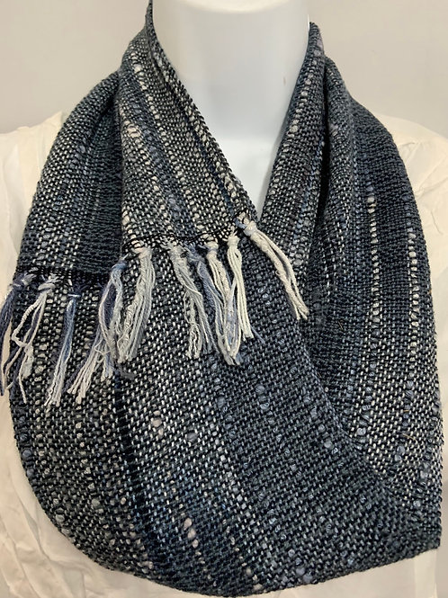 "Short Infinity Scarf in ""Stormy Skies"""