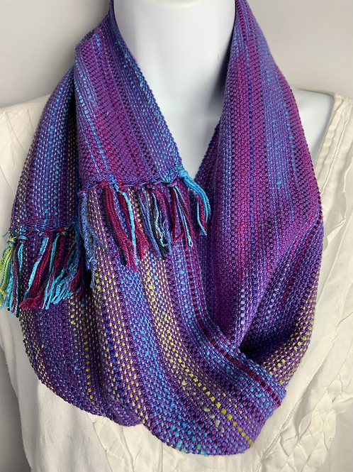 "Purple ""Blueberry"" Short Infinity Scarf"