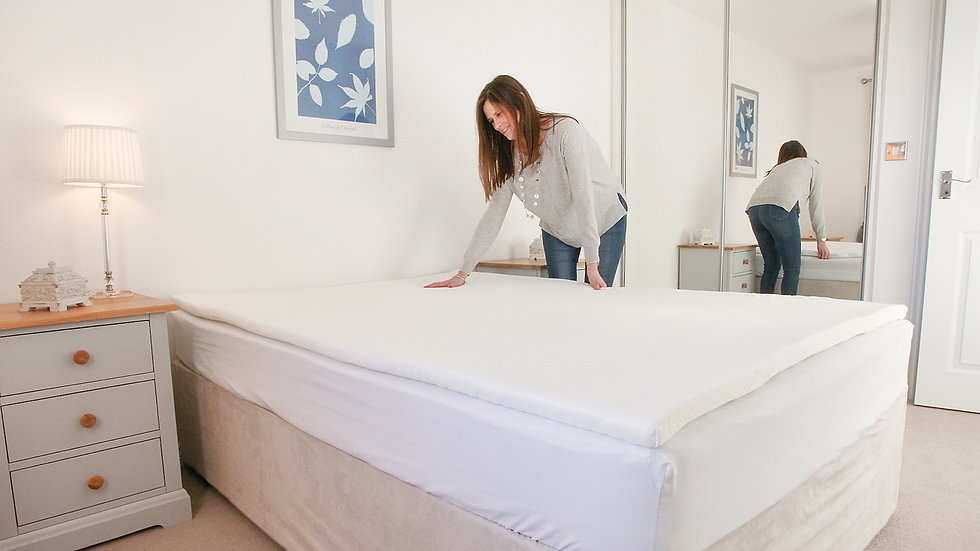 Memory Foam Mattress Topper With Air-Flow Hole Technology