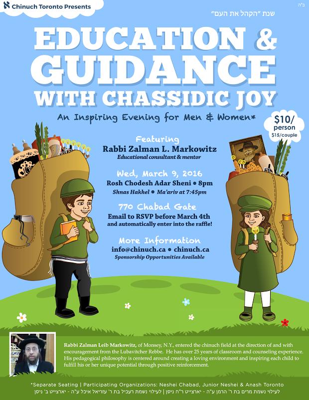 Education & Guidance w/Chassidic Joy