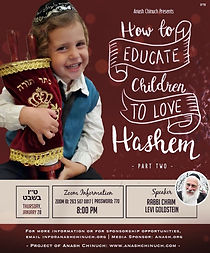 How to Educate Children to Love Hashem P