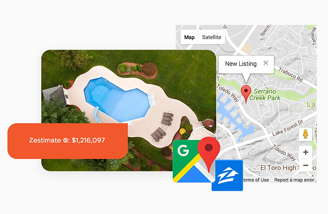 Onsite CRM easily integrates with Google Maps, Zillow, and other popular programs. Instantly learn about estimated home values, property details, tax history and even map driving directions from one window.