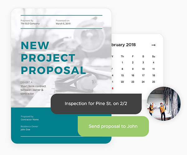 Email proposals as soon as they're available. Include estimated cost, timelines, change orders and QA all in one place with Onsite CRM