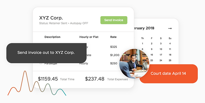 Automatically schedule court dates, send email reminders, process invoices, add expenses, track hours, and get paid all on one platform with Onsite CRM