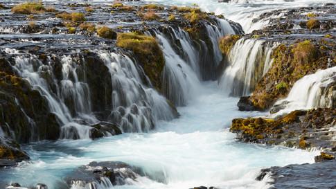 Brúarfoss the blue waterfall