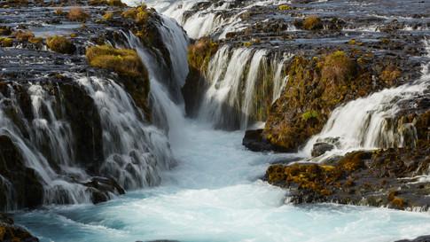 Brúarfoss the blue waterfall - II