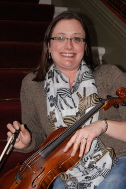 Katie, our principal viola