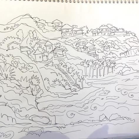 """Sketch for """"Laguna Amor"""""""