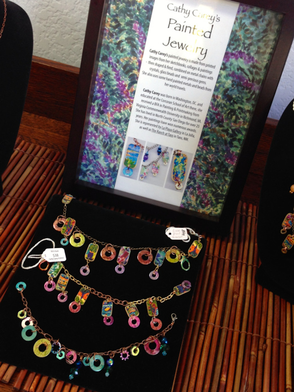 Painted Jewelry by Cathy Carey
