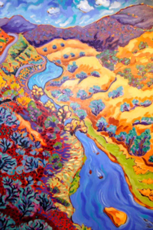 The Rio Grande heading to Santa Fe by Cathy Carey