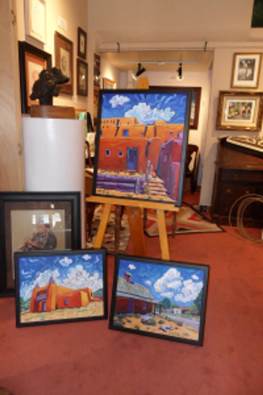 Cathy Carey paintings at The Ranch at Taos Gallery