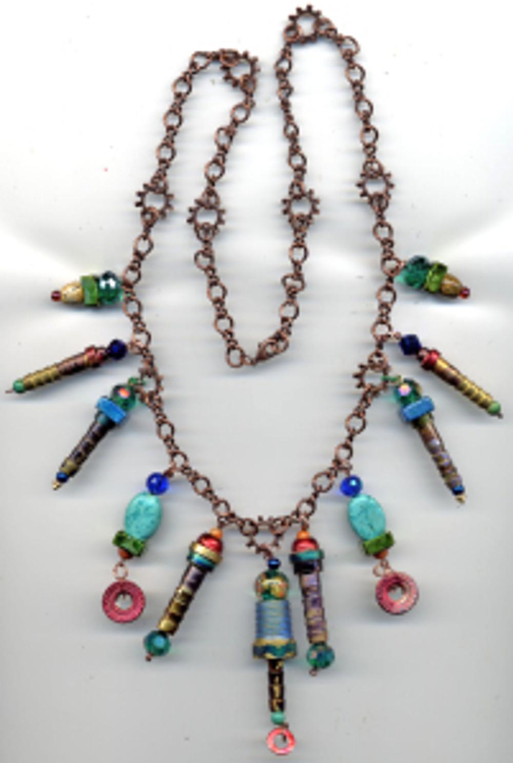 Emerald City - steampunk necklace