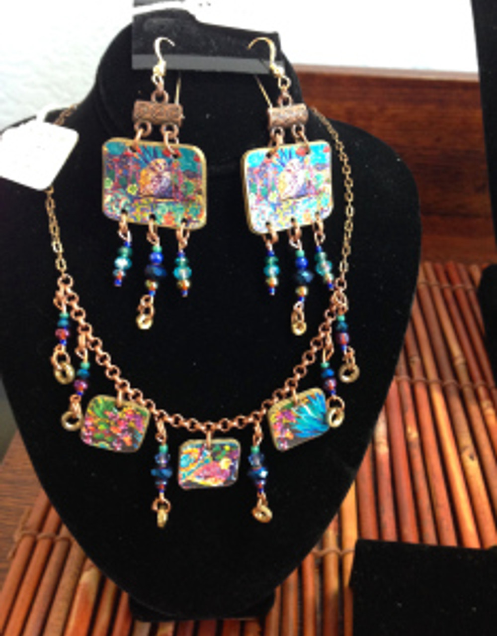 Painted Jewelry by Cathy Carey - made from her paintings