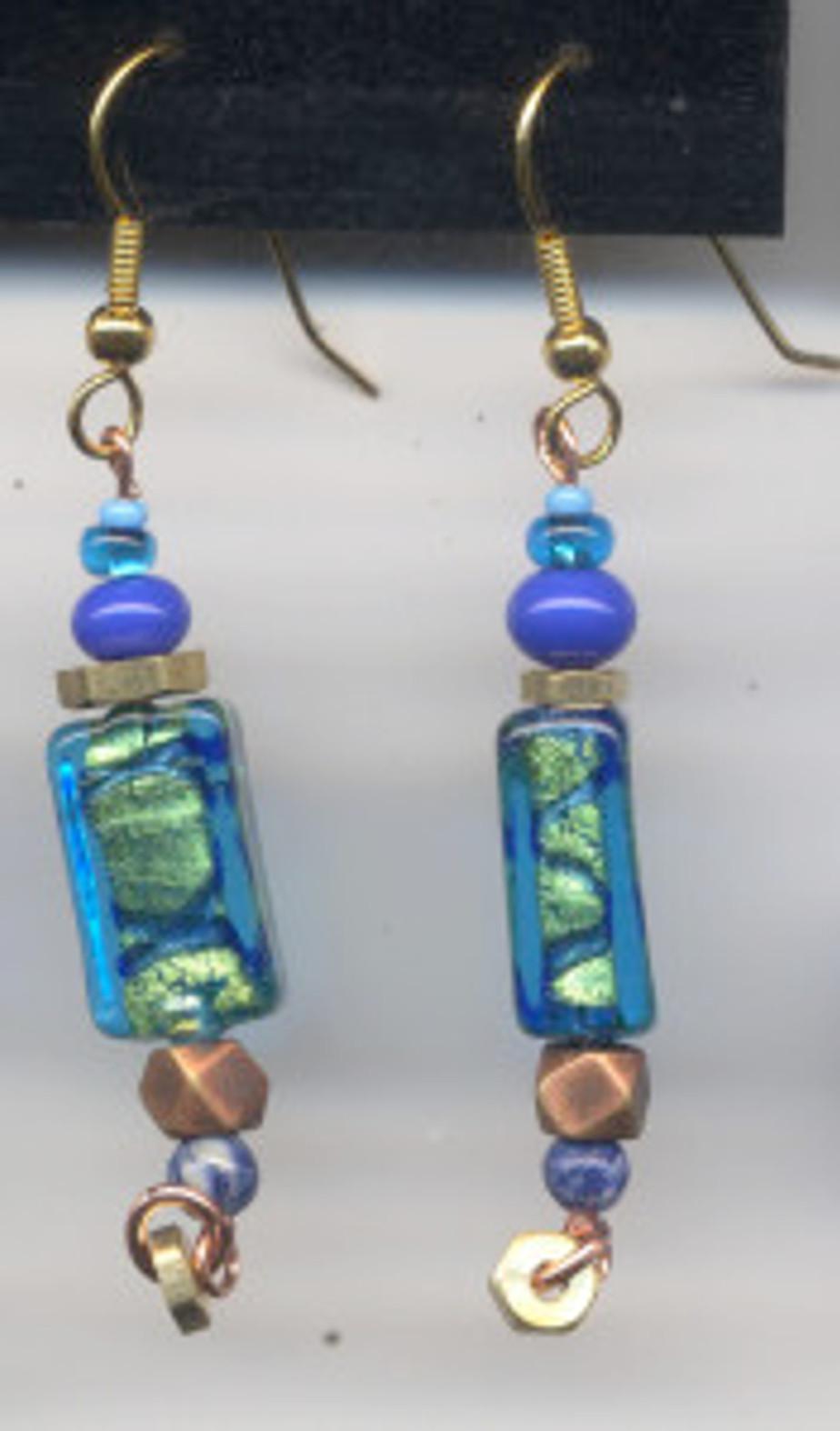 Ocean earrings - $30